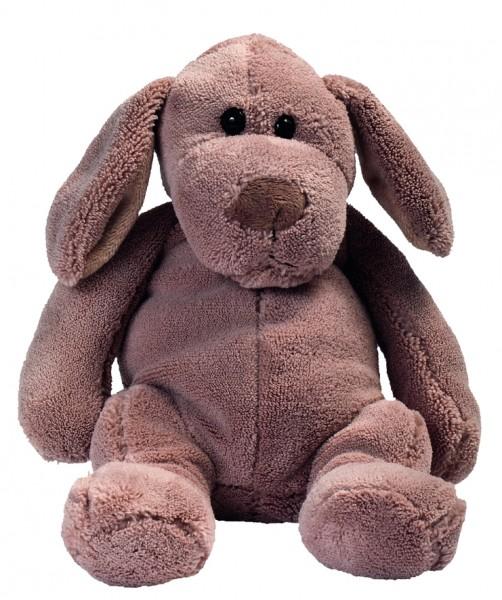 Plüsch Hund Denise - braun (Größe: ca. 28 cm) - optional mit Siebdrucktransfer, Direkttransfer