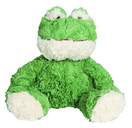 OEKO-TEX® Frosch Torge - grün (Größe: ca. 20 cm) - optional mit Siebdrucktransfer, Direkttransfer