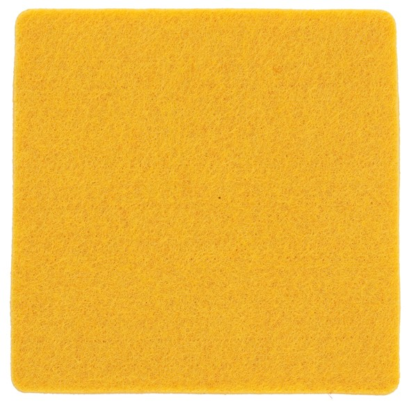 Polyesterfilz Untersetzer Quadrat (Filzstärke: ca. 5 mm) - gelb - optional mit Siebdrucktransfer