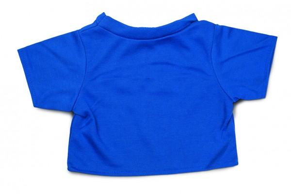 Mini-T-Shirt Gr. XL - blau (Größe: passend für Plüschtiere) - optional mit Siebdrucktransfer
