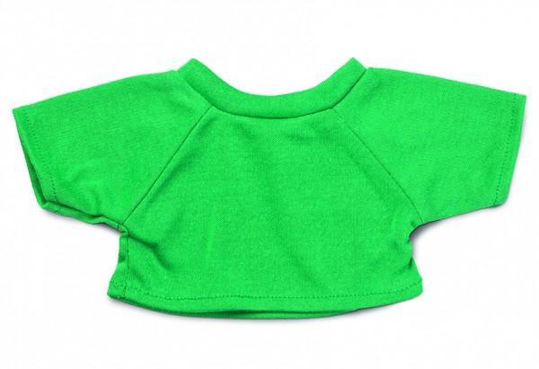 Mini-T-Shirt Gr. L - grün (Größe: passend für Plüschtiere) - optional mit Siebdrucktransfer