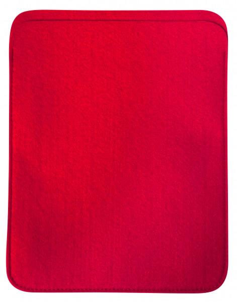 Polyesterfilz Tablet PC-Tasche (Filzstärke: ca. 2,5 mm) - rot - optional mit Siebdrucktransfer