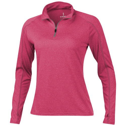 Taza Damen Langarm Shirt mit 1/4 Reißverschluss versch. Größen in versch. Farben mit Siebdruck