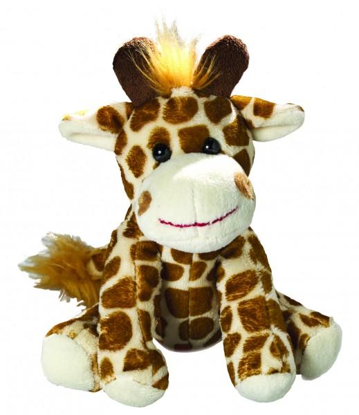 Zootier Giraffe Gabi - braun (Größe: ca. 18 cm) - optional mit Siebdrucktransfer, Direkttransfer