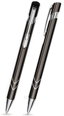 Ein STAR in Anthrazit - hochwertiger Metallkugelschreiber, mit gratis Laser-Gravur