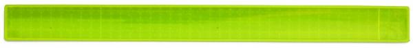 Reflexband mit Metallfeder L - neongelb (Größe: ca. 34 cm) - optional mit Siebdruck