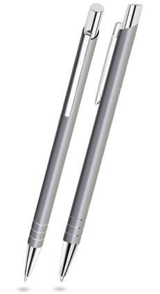 LARA Grau matter Metallkugelschreiber