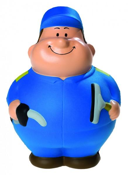 SQUEEZIES® Tankwart Bert® - bunt (Größe: ca. 10 cm) - optional mit Tampondruck