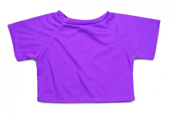 Mini-T-Shirt Gr. XL - lila (Größe: passend für Plüschtiere) - optional mit Siebdrucktransfer