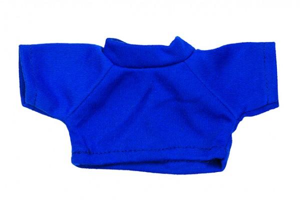 Mini-T-Shirt Gr. S - blau (Größe: passend für Plüschtiere) - optional mit Siebdrucktransfer