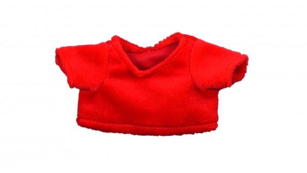 Weihnachts-T-Shirt Gr. S - rot (Größe: passend für Plüschtiere) - optional mit Stick