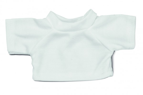 Mini-T-Shirt Gr. S - weiß (Größe: passend für Plüschtiere) - optional mit Siebdrucktransfer, Direktt