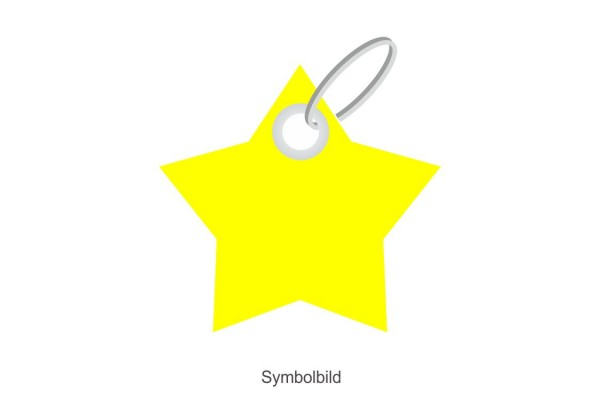 Filz Schlüsselanhänger - Stern - 5 Ecken - optional mit Aufdruck / Schlüsselring / Werbekarte