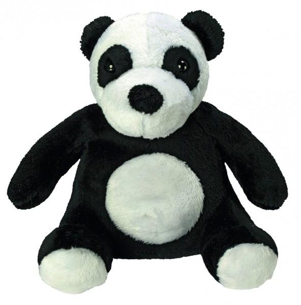 Zootier Panda Dominik - schwarz/weiß (Größe: ca. 14 cm) - optional mit Siebdrucktransfer, Direkttran