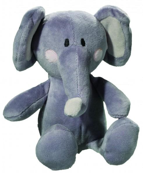 AUSVERKAUFT - OEKO-TEX® Elefant Matze - grau (Größe: ca. 19 cm sitzend) - optional mit Tampondruck,