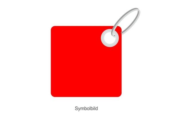 Filz Schlüsselanhänger - Simple Viereck - optional mit Aufdruck / Schlüsselring / Werbekarte