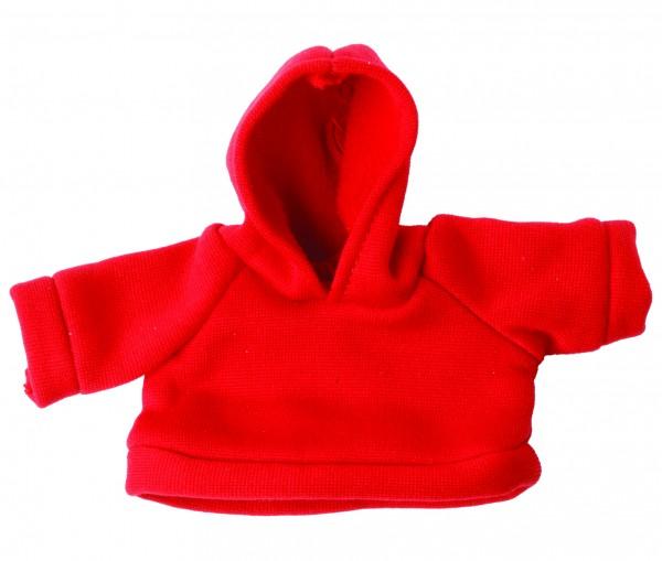 Sweat-Shirt mit Kapuze Gr. S - rot (Größe: passend für Plüschtiere) - optional mit Siebdrucktransfer