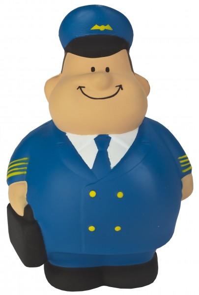 SQUEEZIES® Pilot Bert® - bunt (Größe: ca. 10 cm) - optional mit Tampondruck