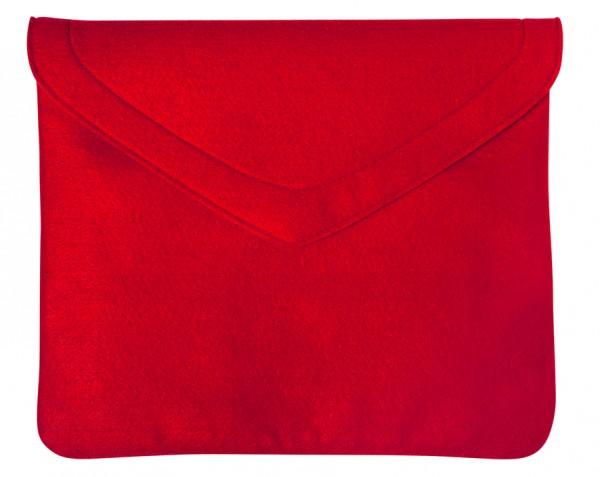 Polyesterfilz Laptop-Tasche (Filzstärke: ca. 2,5 mm) - rot - optional mit Siebdrucktransfer