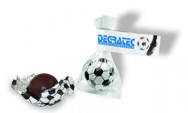 Süßer Fußball, 5,6 g Edelvollmilchschokolade, 1-4 c Digitaldruck inklusive