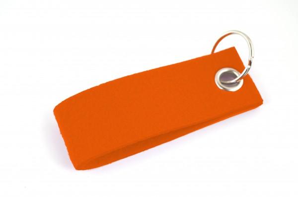 Schlüsselanhänger aus Filz in Orange - Schlaufe ca. 30x90mm - made in Germany