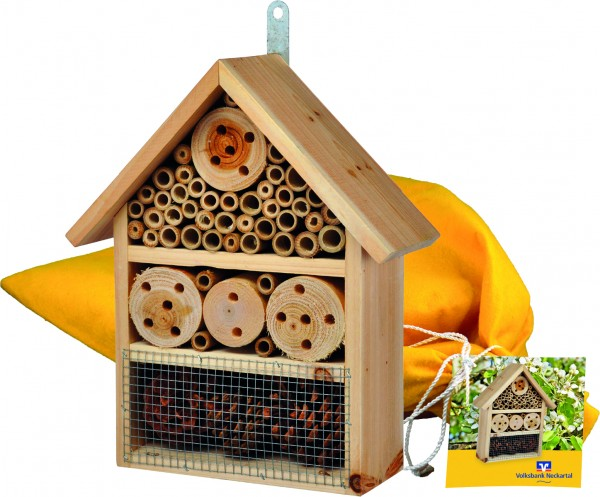 Insektenhotel, 1-4 c Digitaldruck inklusive