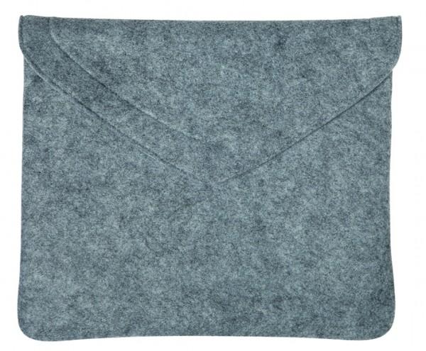 Polyesterfilz Laptop-Tasche (Filzstärke: ca. 2,5 mm) - hellgraumeliert - optional mit Siebdrucktran