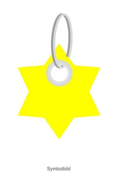 Filz Schlüsselanhänger - Stern-6 Ecken S - optional mit Aufdruck / Schlüsselring / Werbekarte