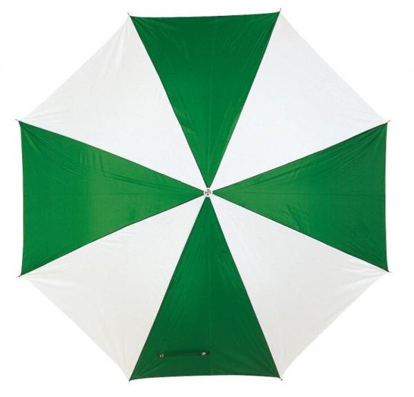 Automatischer Stockschirm DISCO in grün, weiß