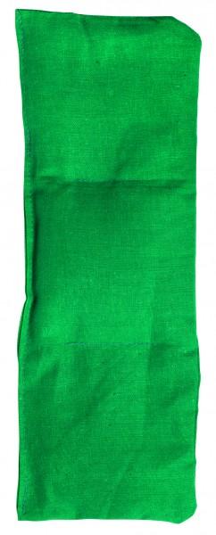 Getreidekissen/ Wärmekissen, klein - grün (Größe: ca. 30 cm) - optional mit Siebdrucktransfer