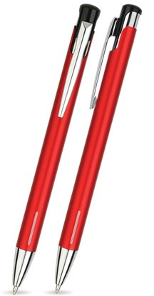 LAIKO Rot matter Metallkugelschreiber