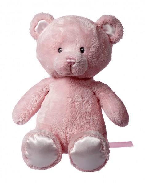 Plüsch Bär Jette - rosa (Größe: ca. 20 cm) - optional mit Tampondruck, Siebdrucktransfer, Direkttran