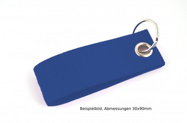 Schlüsselanhänger aus Filz in Royalblau - Schlaufe ca. 120x30mm - made in Germany