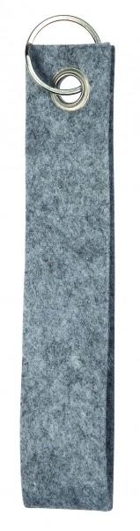 Polyesterfilz-Schlaufe, klein (Filzstärke: ca. 2,5 mm) - hellgraumeliert - optional mit Siebdrucktr