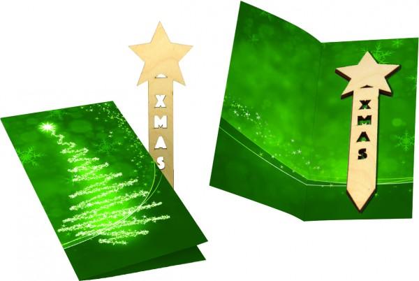 Weihnachtskarte XMAS, ohne Kuvert, 1-4 c Digitaldruck inklusive