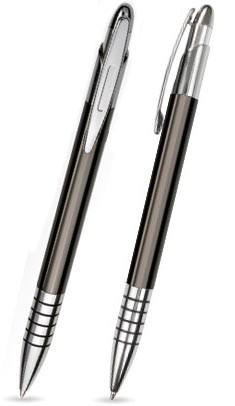 Vicky Anthrazit glänzender Metallkugelschreiber