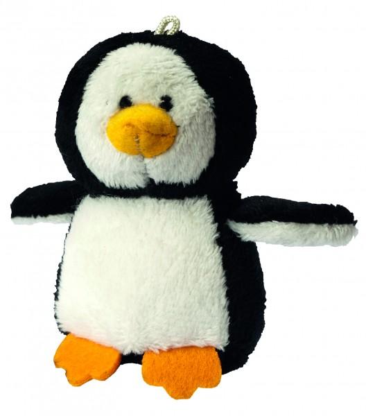 Plüsch Pinguin Kjell - schwarz/weiß (Größe: ca. 9 cm) - optional mit Tampondruck, Siebdrucktransfer,