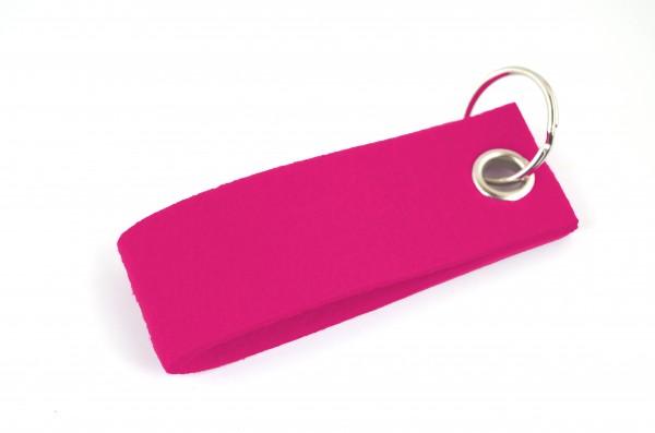 Schlüsselanhänger aus Filz in Pink - Schlaufe ca. 30x90mm - made in Germany