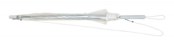 Automatik-Umhängeschirm PANORAMIC in transparent, weiß