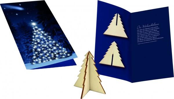 Weihnachtskarte Wintertanne, ohne Kuvert, 1-4 c Digitaldruck inklusive