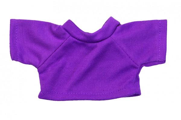 Mini-T-Shirt Gr. S - lila (Größe: passend für Plüschtiere) - optional mit Siebdrucktransfer