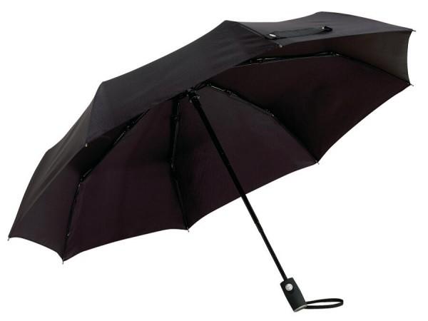 Vollautomatischer Windproof-Taschenschirm ORIANA in schwarz