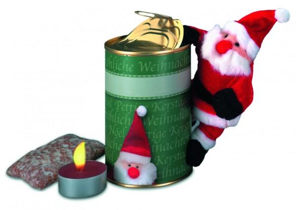 Magnetischer Weihnachtmann in Dose, Ø 73 x 110 mm, 1-4 c Digitaldruck inklusive