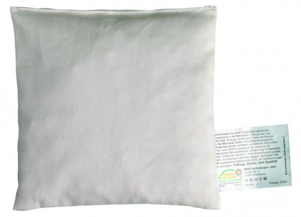 OEKO-TEX® Getreidekissen (Roggen) - natur (Größe: ca. 15 cm) - optional mit Siebdrucktransfer, Direk