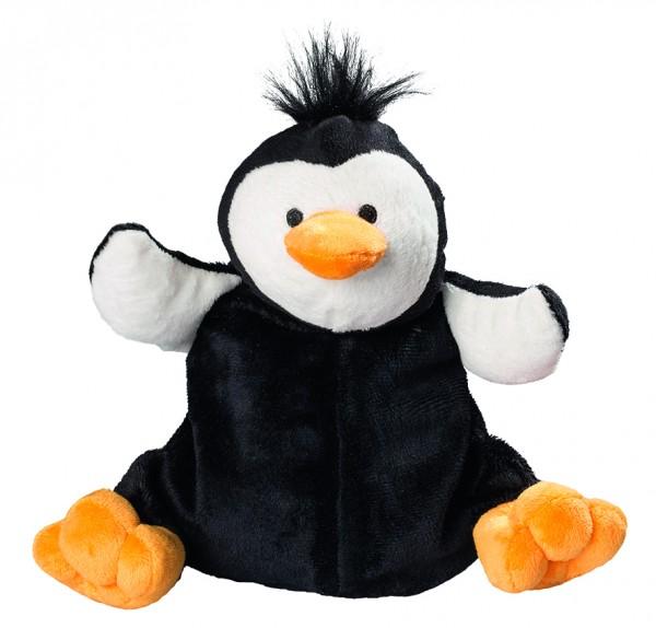 Plüsch Pinguin für Wärmekissen - schwarz (Größe: ca. 25 cm) - optional mit Tampondruck, Siebdrucktra