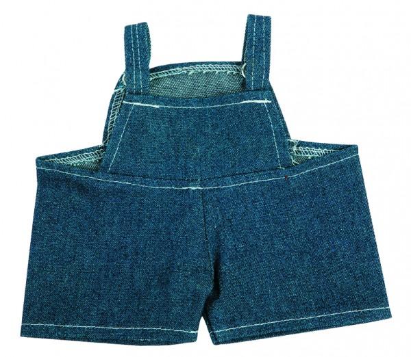 Jeans-Latzhose für Plüschtiere Gr. M - dunkelblau (Größe: passend für Plüschtiere) - optional mit Si