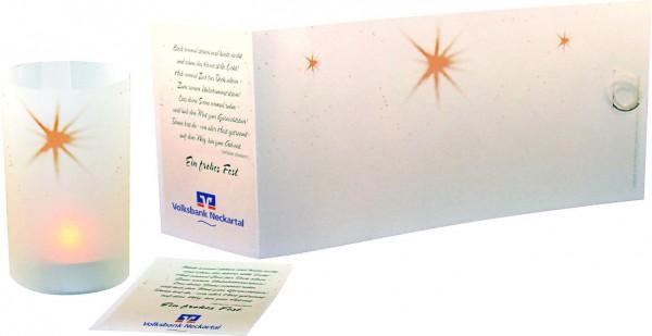 Lichtrolle Stern (ohne Teelicht), ohne Kuvert, 1-4 c Digitaldruck inklusive