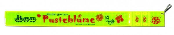 Multireflexband 3 in 1 - neongelb (Größe: ca. 31,5 cm) - optional mit Siebdruck