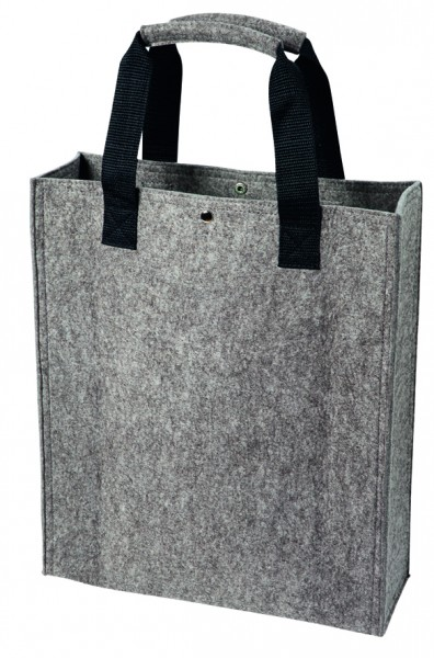 Polyesterfilz Shopper (Filzstärke: ca. 3 mm) - anthrazit - optional mit Siebdrucktransfer