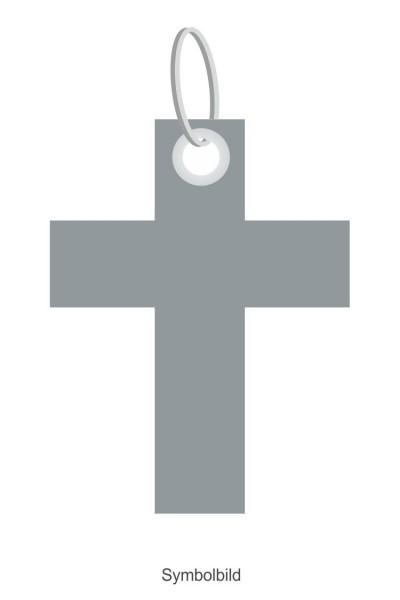 Filz Schlüsselanhänger - Kreuz Kirche 1 - optional mit Aufdruck / Schlüsselring / Werbekarte